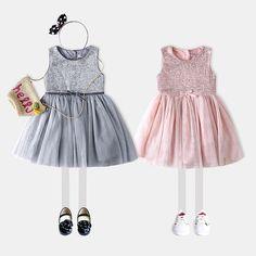 Девушки сладкий блестками чистой пряжи сплайсинга платье весны и лета 2017 года новая детская одежда Европа и Америка платье жилет юбка платье принцессы-Таобао глобальной вокзала