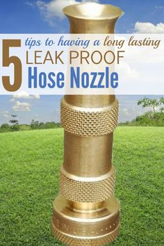 Here how to have a long lasting leak proof hose nozzle. http://media.jdpenterprise.com/wordpress/brass-hose-nozzle-tips Tired of having to go out every year or so to buy another hose nozzle because the last one you bought is now leaking badly or has just fallen apart? This is the answer and for a limited time you can get at %25 discount.