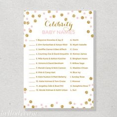Celebrity Baby Name Game Celebrity Baby Game by hellodreamstudio