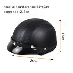 ECE Motorcycle Half Open Face Leather Helmet With Sun Visor Goggles Sale - Banggood.com