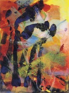 Etna II (1984) » Gerhard Richter - Watercolor, graphite and crayon - 39.8 cm x 30 cm