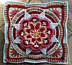 Transcendent Crochet a Solid Granny Square Ideas. Inconceivable Crochet a Solid Granny Square Ideas. Crochet Mandala Pattern, Crochet Blocks, Granny Square Crochet Pattern, Crochet Granny, Knit Crochet, Crochet Squares Afghan, Motifs Afghans, Crochet Afghans, Crochet Blanket Patterns