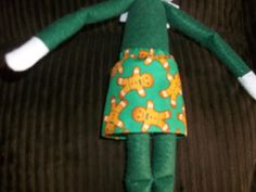 Christmas Elf doll skirt green with gingerbread cookies by on Etsy Christmas Elf Doll, Gingerbread Cookies, Dolls, Skirt, Trending Outfits, Unique Jewelry, Handmade Gifts, Green, Vintage