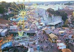 Photo of Southeastern Fair at Lakewood Fairgrounds showing Roller Coaster and Ferris Wheel. Georgia Usa, Georgia On My Mind, Atlanta Georgia, Rio Vista, Old Images, Back In The Day, Historical Photos, City Photo, The Past