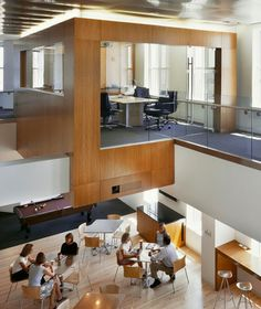 Open space. Bain office in Boston. Breaking down silos.