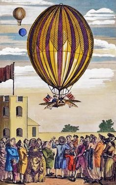 1784 Air Balloon or Mr. Blanchard's Grand Aerostatic Machine. Published: London, Published by J. Sharpe No. 20 Portugal Street, Lincoln's Inn.