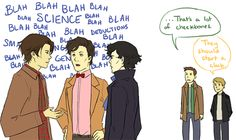 SuperWhoLock.....That's a lot of cheekbones. :)<< Does this go under Supernatural or BBC?