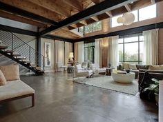 Gorgeous open contemporary loft design. Dallas