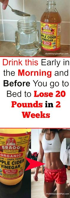 Drink this early in the morning and before you go to bed to lose 20 pounds in 2 weeks