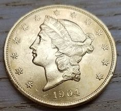 1904 $20 GOLD DOUBLE EAGLE-MINT STATE-UNCIRCULATED BEAUTY-FREE USA SHIPPING
