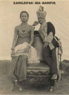 Maharaja Churachand Singh, with his wife Maharani Dhanamanjuri Devi posing for photograph.By Rohit Sonkiya