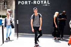 Call Off Duty: Street Style Behind the Scenes With Top Male Models - Gallery - Style.com
