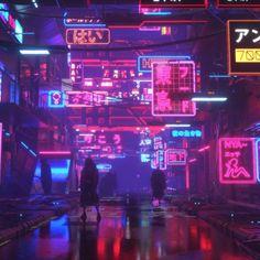 37 ideas street landscape design concept art for 2019 Cyberpunk City, Cyberpunk Aesthetic, Arte Cyberpunk, Neon Aesthetic, Cyberpunk Tattoo, Cyberpunk Clothes, Aesthetic Japan, Aesthetic Style, Cyberpunk Fashion