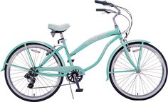 My bike looks very similar to this style only mine is black with lots of shiney silver chrome.  I added a cute, vibrant, glow in the dark panda bear bicycle bell for a splash of color.  I love Nicollet Bike Shop :)