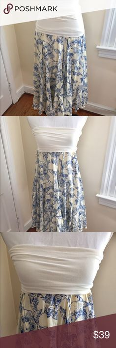 Sugar Lips Skirt or Dress 🍃🦋🍃 Adorable! Gorgeous color and pattern. I wore this twice. Once as a Skirt and once as a dress. I pulled one side of the tag off by accident, but didn't harm material. 🍃🌺🍃 Sugar Lips Skirts