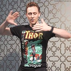 Tom Hiddleston dancing. In his pajamas. In bed.