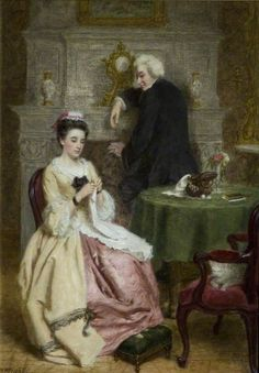 Sterne and the French Innkeeper's Daughter, by William Powell Frith (British, Old Fireplace, Fireplaces, William Powell, Victorian Art, Art Uk, Vintage Artwork, Your Paintings, Art Boards, Les Oeuvres