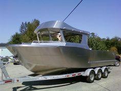 26 FT Orca, surface piercer drive (1305) | Aluminum Boat Plans & Designs by Specmar