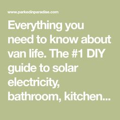 Everything you need to know about van life. The DIY guide to solar electricity, bathroom, kitchen, camping, budgeting and living on the road. Ford Transit Camper Conversion, Van Conversion Interior, Camper Van Conversion Diy, Sprinter Conversion, Build A Camper Van, Diy Camper, Van Conversion Tutorial, Big Van, Diy Van Conversions