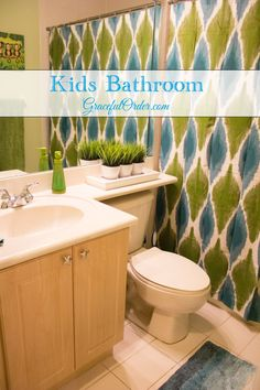 Graceful Order - Organizing and Decorating the home. Hall Bathroom, Bathroom Kids, Bathrooms, Family Bathroom, Kids Bathroom Organization, Organization Ideas, Bathroom Plants, Kids Bedroom, Bedroom Ideas