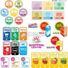 Variety of Mall Shopping Center logo vector
