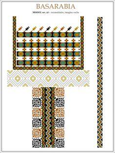 Semne Cusute: iie din BASARABIA - desen (27) Hungarian Embroidery, Folk Embroidery, Learn Embroidery, Embroidery Patterns, Cross Stitch Patterns, Machine Embroidery, Palestinian Embroidery, Butterfly Embroidery, Antique Quilts