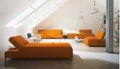 salon-canapé-orange