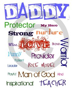 father's day quotation with image
