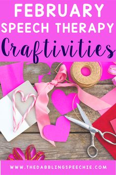february speech therapy craftivities for Valentine's day, Chinese new year, hot chocolate and more that can be adapted for your caseload.