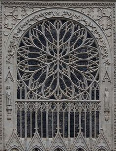 Amiens Cathedral South Facade Rose Window | Flickr - Photo Sharing!
