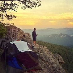 Now that's a room with a view.  The backpacking guides at http://SierraSpirit.biz love this camp.