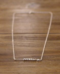 Minimal Modern Friendship Skinny Thin Pure Genuine 925 Sterling Silver Facet Bead 1 Mm Rolo Round Italian Cable Chain Necklace Jewelry Gift 16 Inch (Anthropologie)
