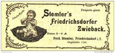 Original-Werbung/ Anzeige 1898 - STEMLER'S FRIEDRICHSDORFER ZWIEBACK -  ca. 90 x 40  mm