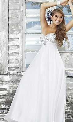 27f8dc11d1e Elegant Strapless Sleeveless Long A-Line Natural Evening Dress In Stock Prom  Dress Prom Dresses
