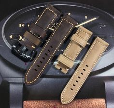 bbc5086fbff INFINITY Retro 24mm Vintage Italy Calf Leather Watch Band Strap For Panerai  PAM. Vintage Italy