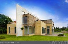 Sch ne fassade wei steinwand glas panoramafenster for Bauhaus steinwand