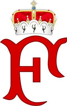 Imperial Monogram of Archduke Friedrich of Austria, Duke of Teschen. — in Austria.