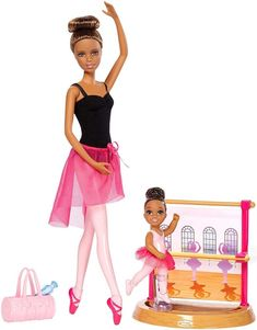 Barbie® Careers Ballet Instructor African-American Doll and Playset Valentine's or Easter Gift Purple Shorts, Barbie Sets, Barbie Dolls, Ken Doll, Barbie Ballet, Young Gymnast, Accessoires Barbie, Pink Gym, Tricot