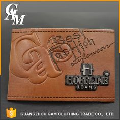 Source Wholesale Cheap Custom Fashion pu leather label logo for jeans on m.alibaba.com Tag Design, Label Design, Leather Label, Pu Leather, Clothing Labels, Product Design, Continental Wallet, Creative, Fashion