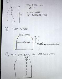 Det er ret nemt at lave sin helt egen slå-om nederdel tilpasset på mål, præcis så den passer til dig. Her er en vejledning / DIY / tutoria...