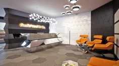 Rompharm office interior design by Geometrix