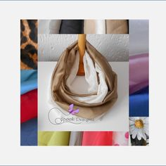 Infinity, Scarves, My Etsy Shop, Chiffon, Trending Outfits, Unique Jewelry, Handmade Gifts, Vintage, Scarfs