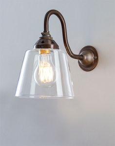 www.hollowaysofludlow.com shop lighting bathroom-lighting side-of-mirror-lights industrial_glass_wall_light