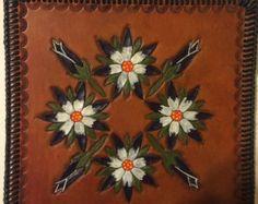 Shabby White Decor Altered Lace Art  Vintage Rhinestone