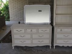 Before...Lea French Provincial Bedroom set (these pieces are sold)