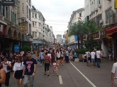 Xiamen (China) als Touristenhochburg für Chinesen. Hier Stadtteil mit Häusern aus der portugiesischen Kolonialzeit.