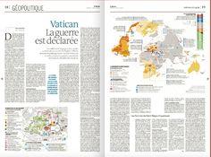 Double carte géopolitique sur le Vatican - Le Monde du 17 avril 2017 Le Vatican, Personal Portfolio, Me On A Map, Maps, Bullet Journal, Books, Libros, Blue Prints, Book