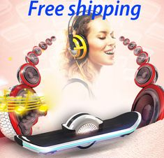 one wheel music bluetooth board scooter,waveboard,hoverboard,air tire unicycle skateboard //Price: $350.55//     #shopping