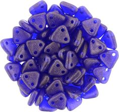 371-06-MSG3009 CzechMates Triangle 6mm : Sueded Gold Cobalt
