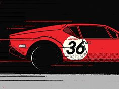 Snippet from something i'm working on... featuring the legendary De Tomaso Pantera.